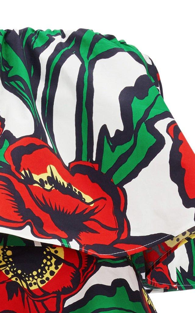 Tosca Floral-Print Cotton Midi Dress