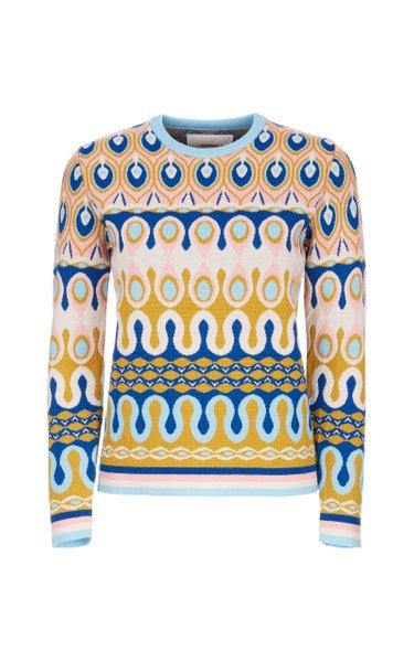 Rio Jacquard Wool Sweater
