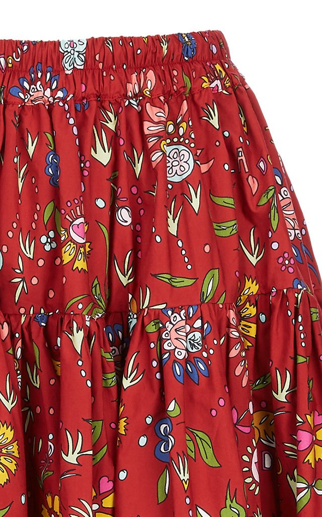 Love Tiered Ruffle Cotton Skirt