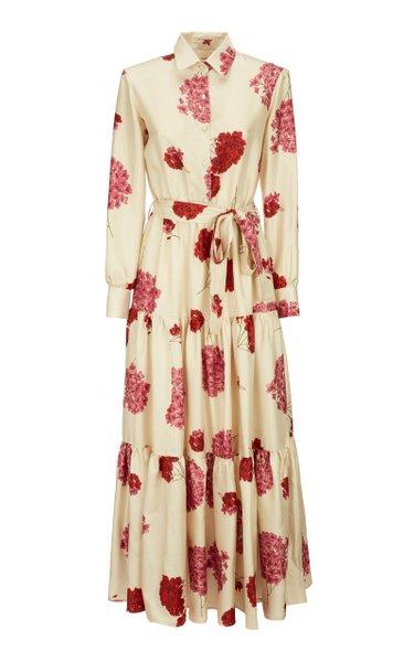 Bellini Tiered Floral-Print Silk Maxi Dress