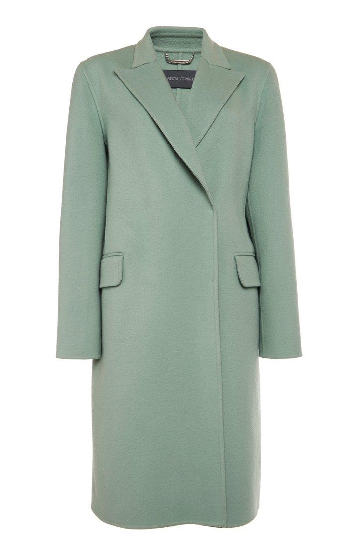 Wool-Blend Felt Coat