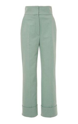 Flannel Straight-Leg Pants