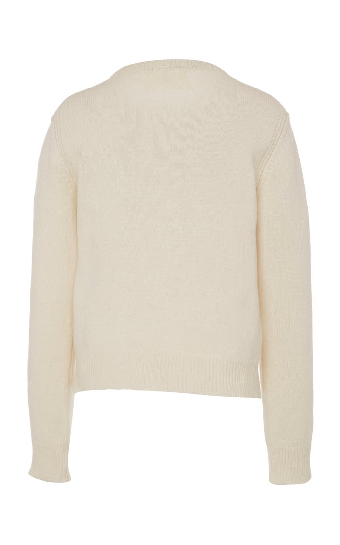 """""""Life Is Joy"""" Eco-Cashmere Cropped Sweater"""