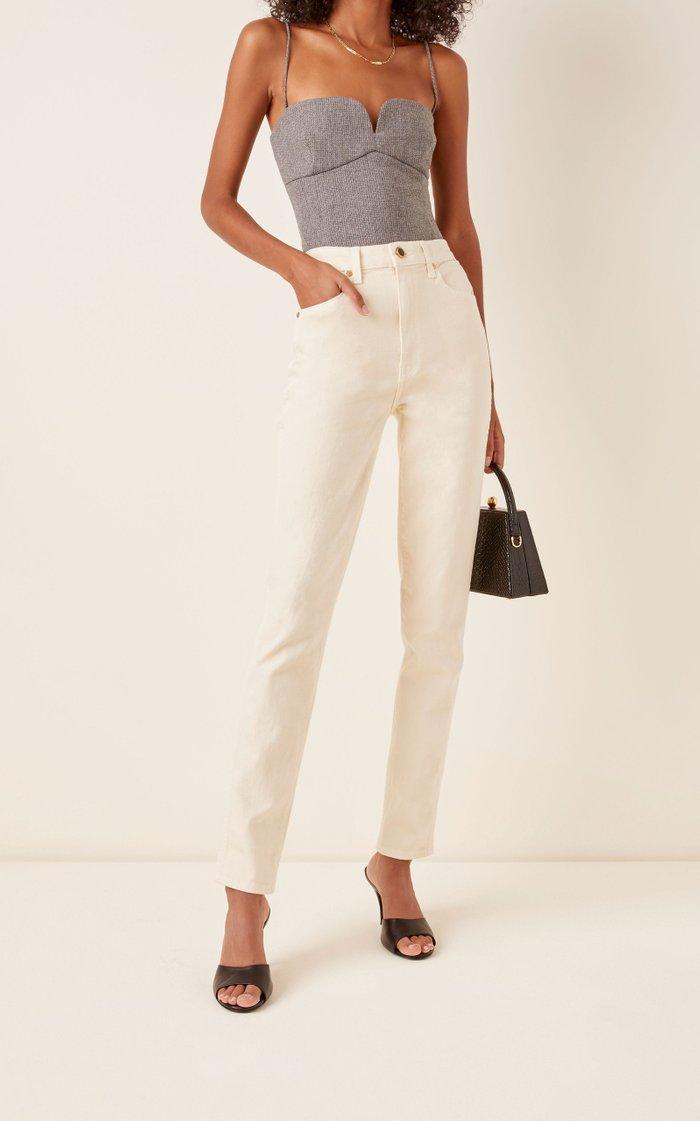 Vanessa High-Rise Straight-Leg Jeans