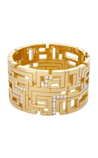 Goldie Gold-Plated Crystal Cuff