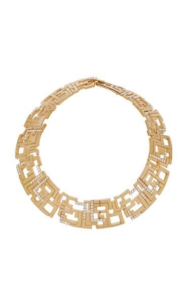 Goldie Crystal-Embellished Gold-Plated Brass Necklace