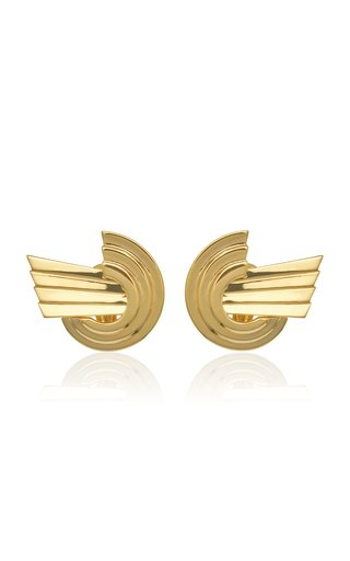 Leda Madera Meryl Gold-plated Brass Earrings