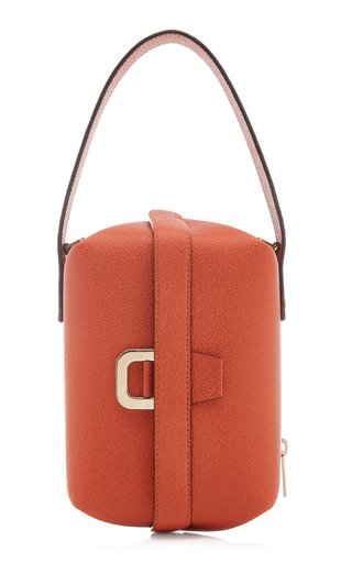 Tric Trac Leather Top Handle Bag
