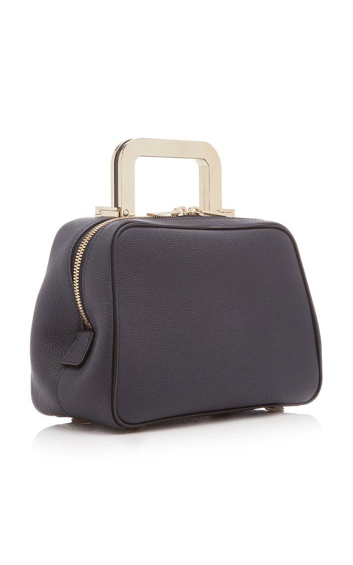 Series S Mini Leather Metal Top Handle Bag