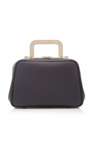 Series S Mini Leather Metal Top Handle Bag