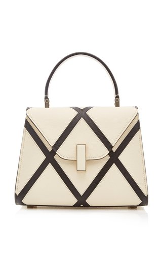 Iside Micro Two-Tone Leather Top Handle Bag