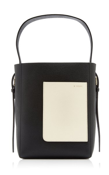 Small Leather Bucket Bag