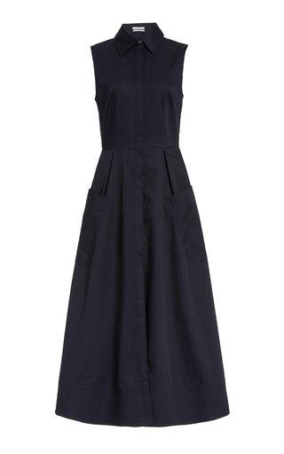 Cotton Poplin Midi Shirt Dress