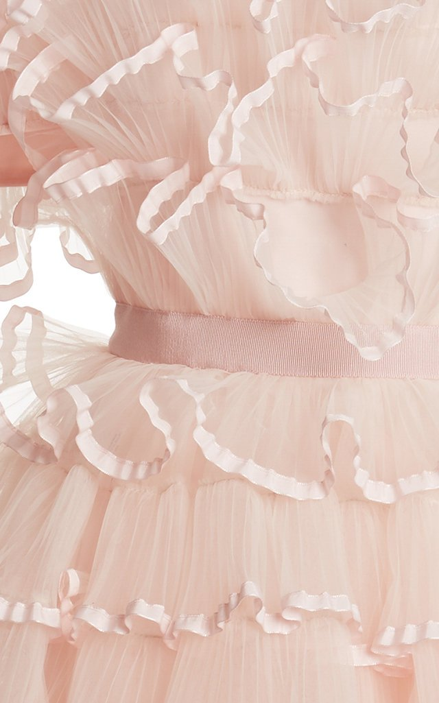 Ruffled Tulle Mini Dress