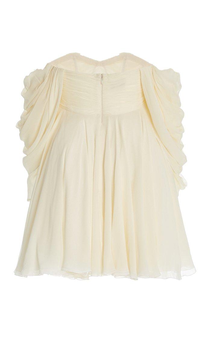 Georgette Off-The-Shoulder Mini Dress