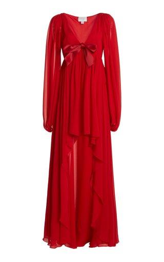 Draped Silk-Georgette Dress