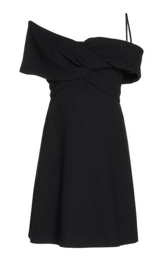 Georgette Tie-Neck Mini Dress