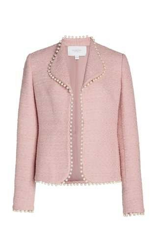 Pearl Trim Collared Jacket