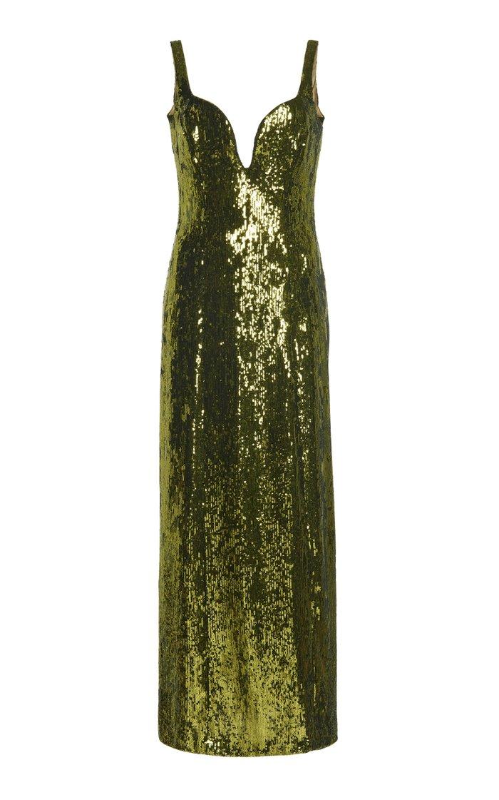 Savannah Sequined Tulle Midi Dress