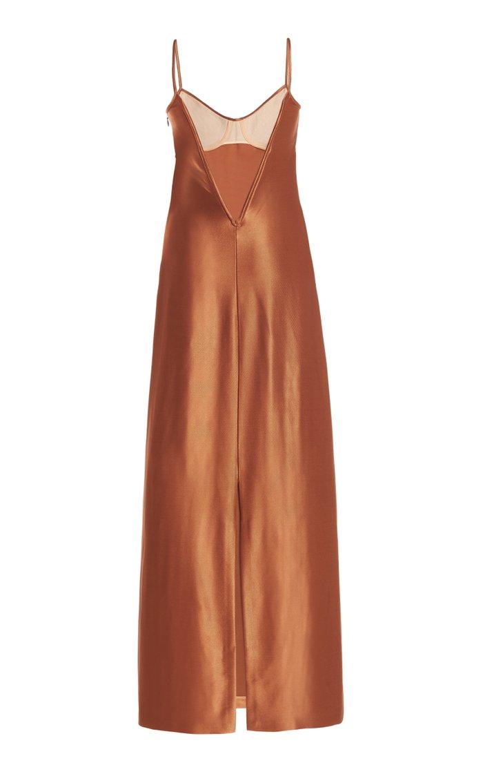 Sahara Bustier Satin Midi Dress