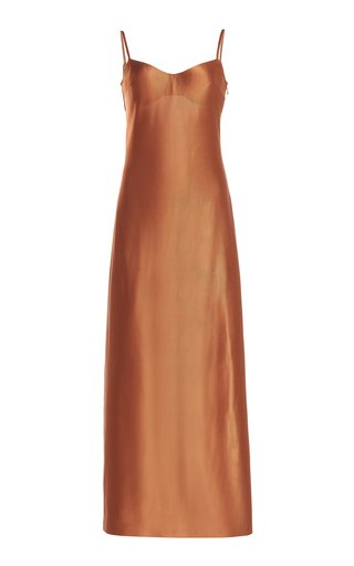Sahara Bustier Satin Midi Dress