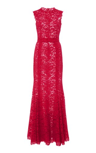 Sleeveless Lace Gown