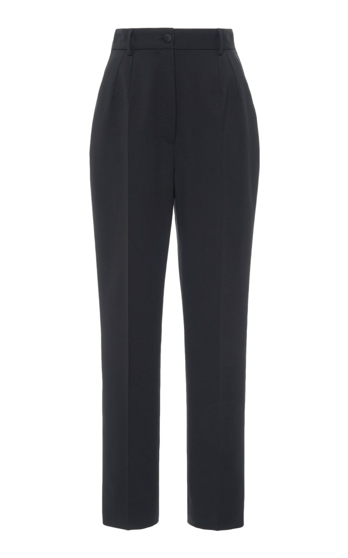 Wool-Blend Tapered Trousers