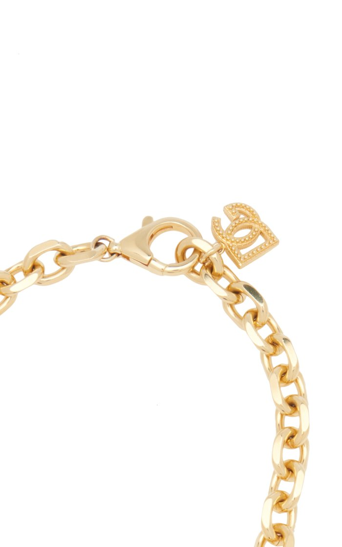 Country Logo-Detailed Gold-Tone Brass Chain Necklace