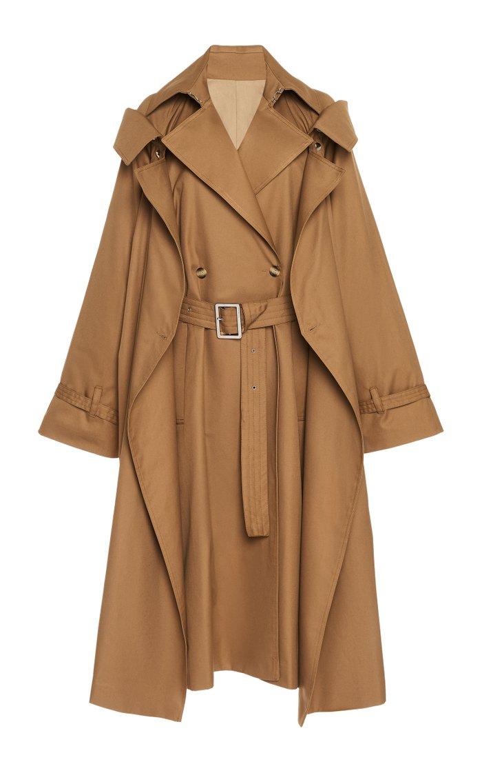 Convertible Cotton-Gabardine Trench Coat