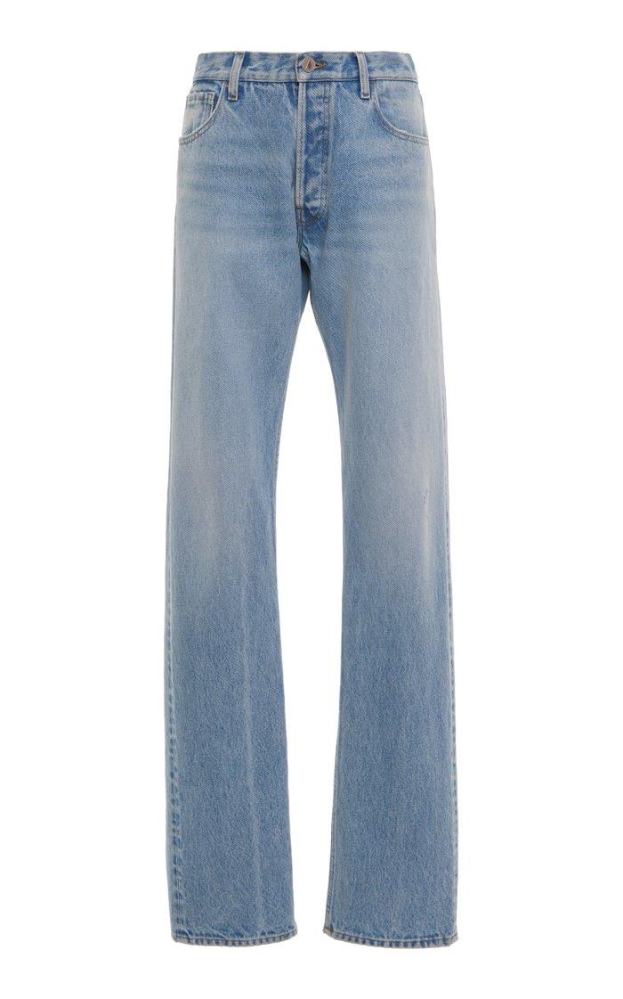 Rigid Mid-Rise Straight-Leg Jean