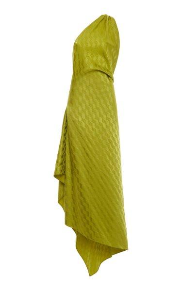 One-Shoulder Handkerchief Hem Dress