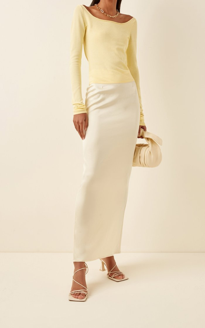 Butter Sateen Midi Skirt