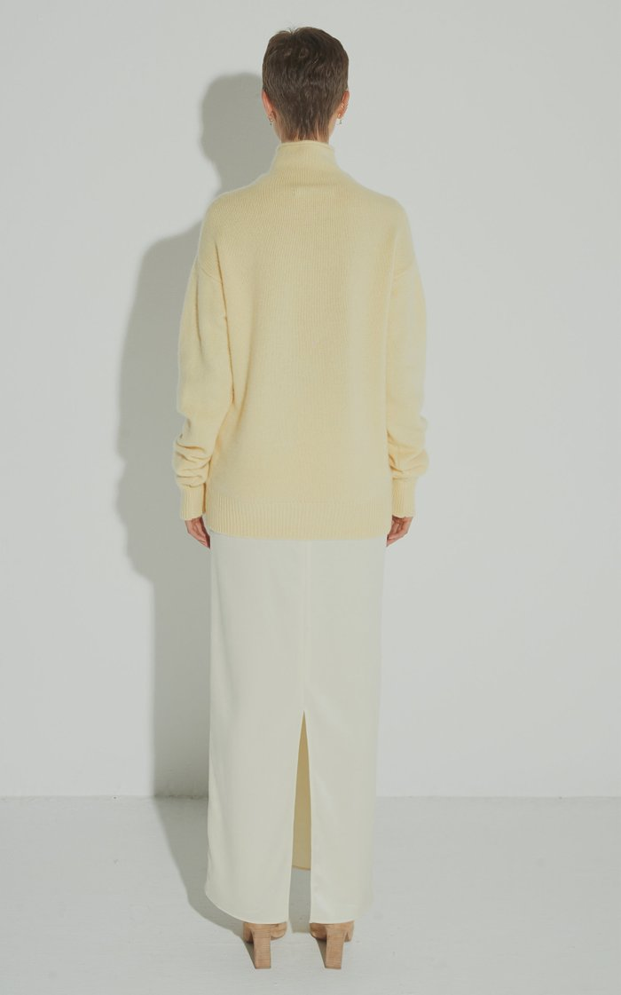 Butter Sateen Midi Skirt