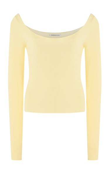 Pearl Stretch-Jersey Top