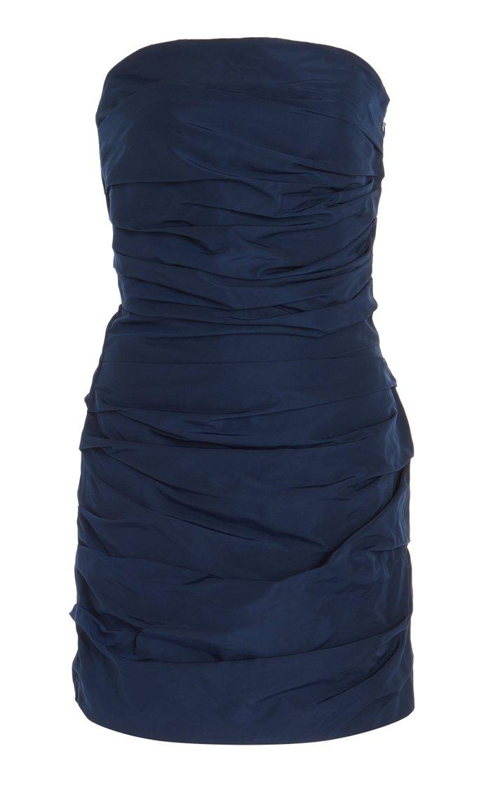 Betty Draped Taffeta Mini Dress