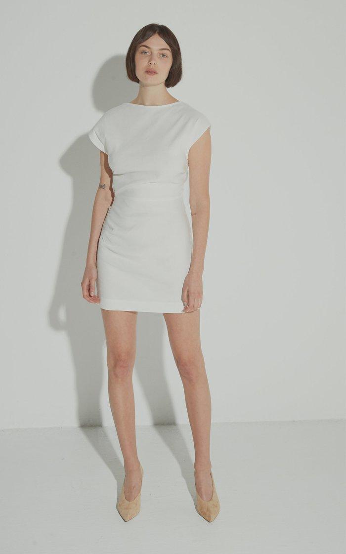 Lily Linen-Blend Mini Dress