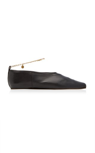 Embellished Vegan Leather Flats