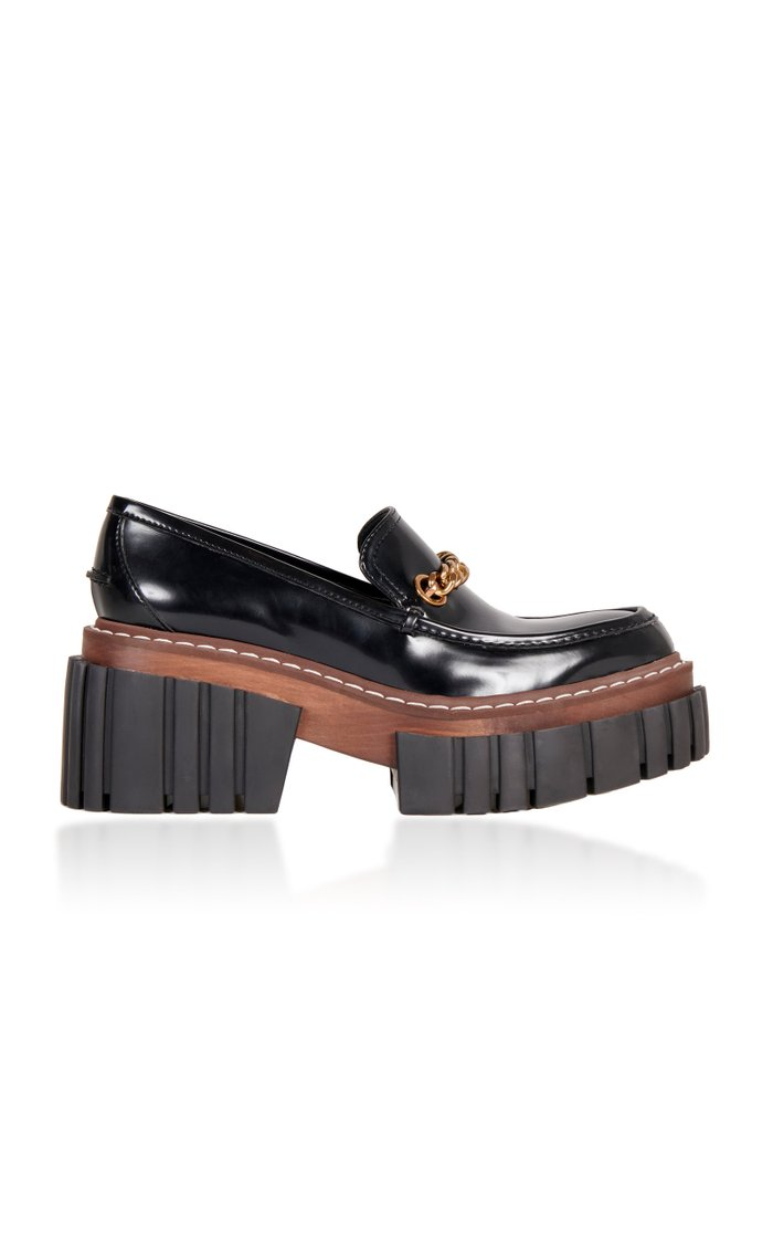 Platform Patent Leather Loafers
