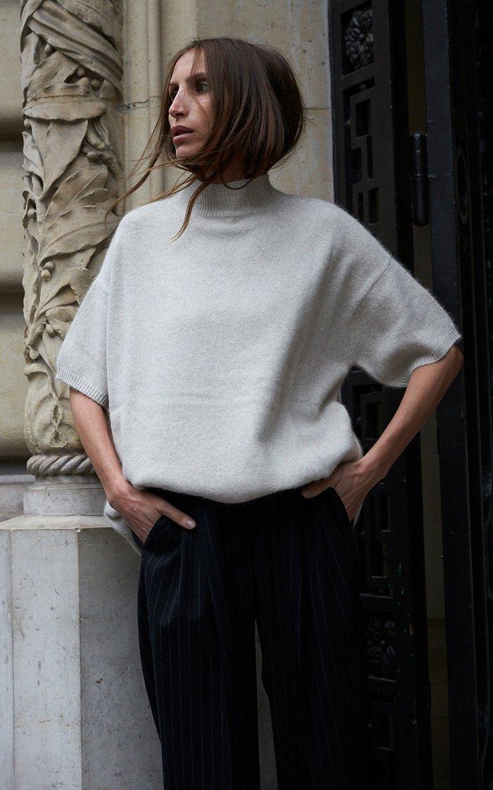 Pertusato Oversized Wool-Blend Sweater