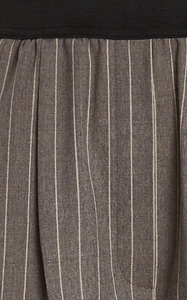 Moretta Stretch-Wool Straight-Leg Pants