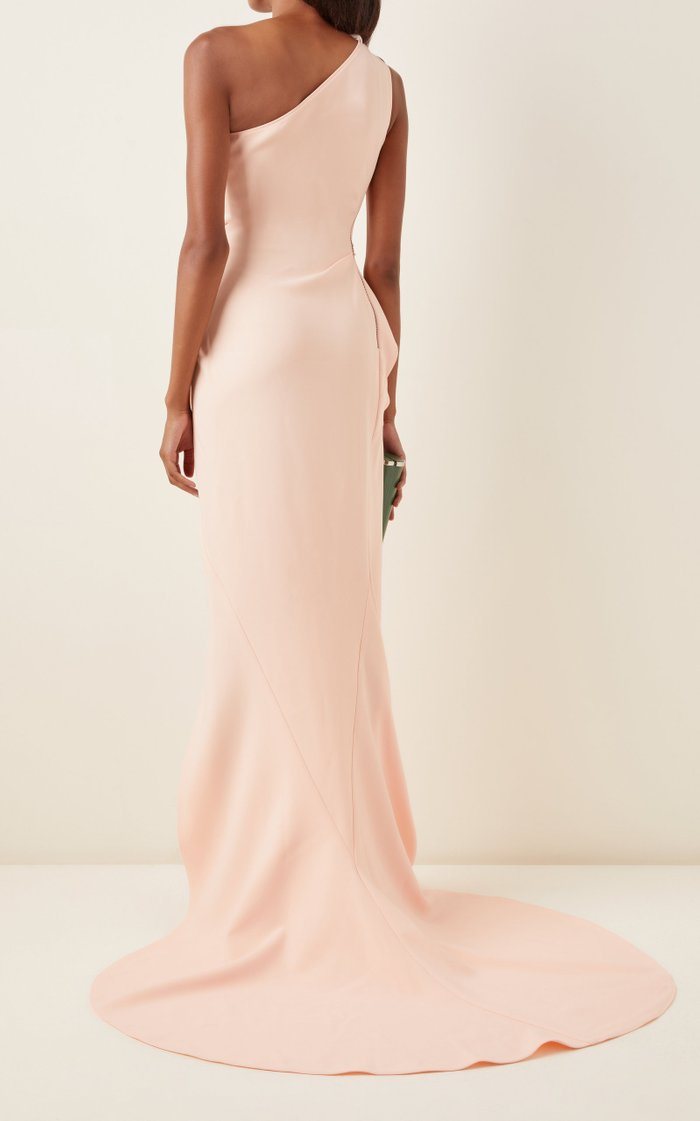 Boundless Cutout One-Shoulder Crepe Gown