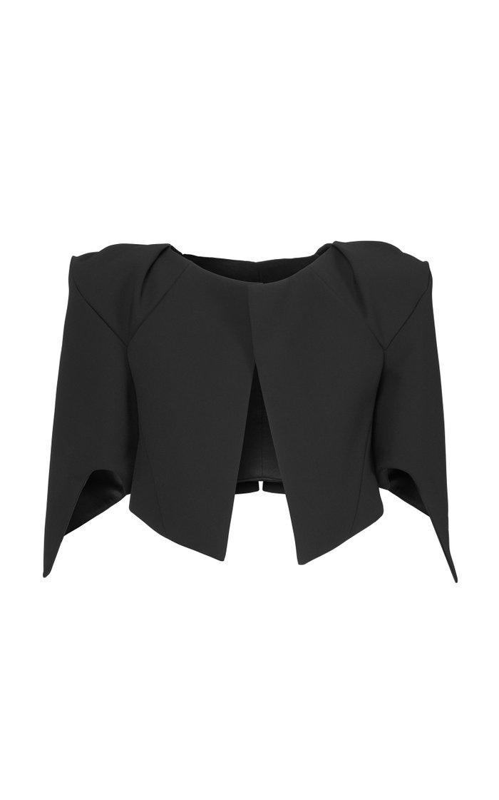 Vent Crepe Cropped Jacket