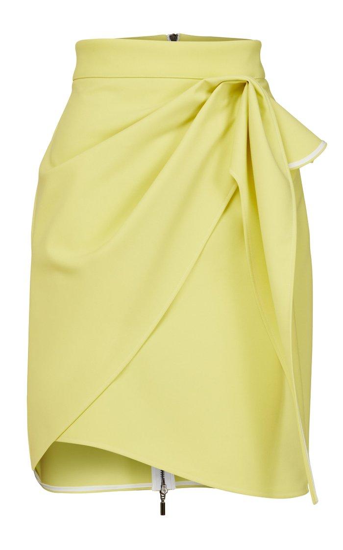 Splendid Draped Crepe Mini Skirt