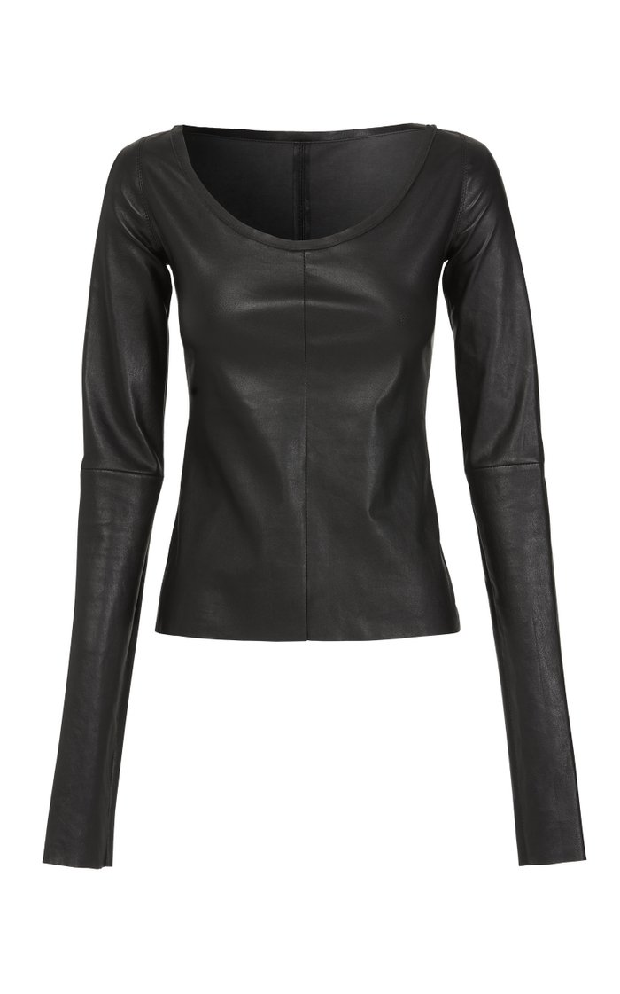 Doting Leather Top