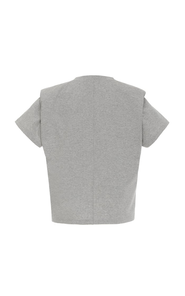 Belita Tie-Detailed Cotton-Jersey T-Shirt