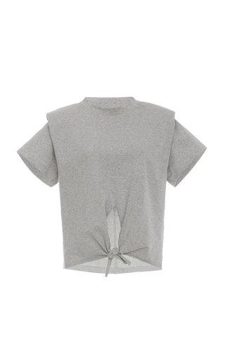 Belita Tie-Detailed Cotton-Jersey T-Shirt
