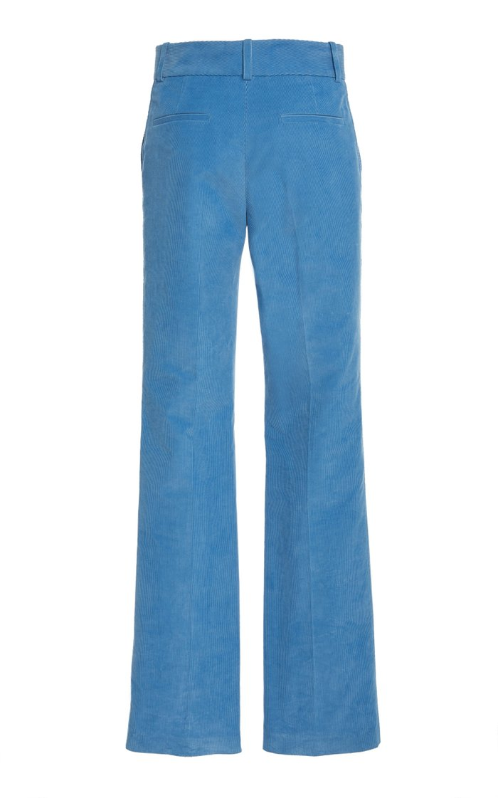 High-Rise Flared Corduroy Trousers
