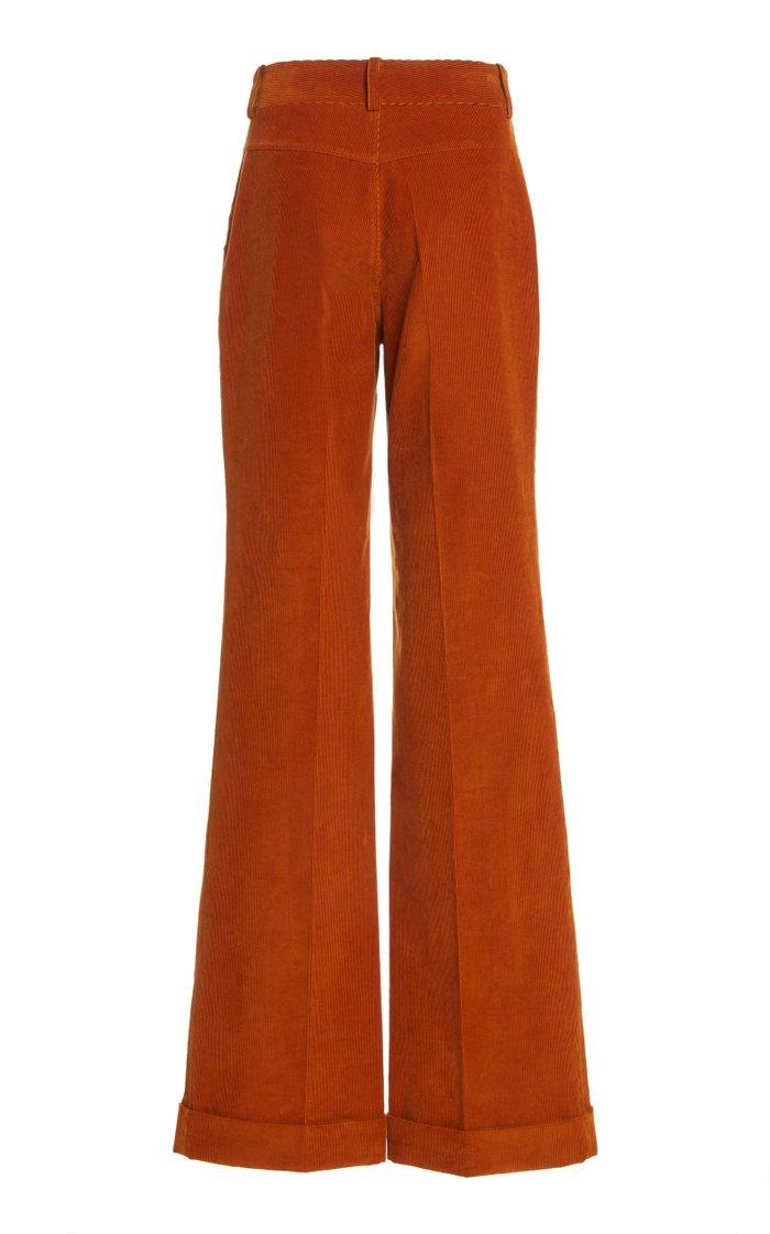 High-Rise Flared Corduroy Pants