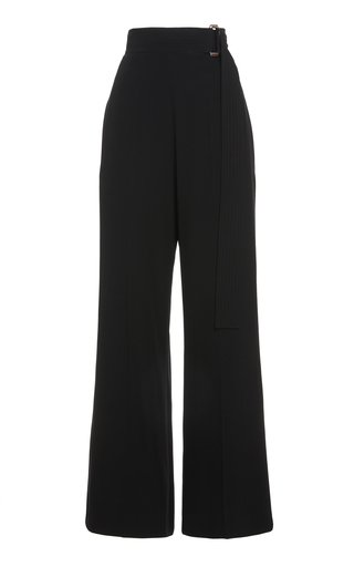 Open-Back Belted Cady Pants