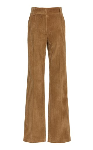 High-Rise Straight-Leg Corduroy Pants